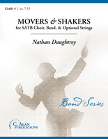Movers & Shakers (Band, SATB Choir, opt. Strings - Grade 4)