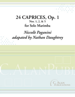 24 Caprices, Op. 1 (selections) (Solo Marimba)