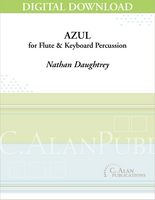 Azul (flute & percussion duet) - Nathan Daughtrey [DIGITAL]