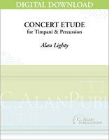 Concert Etude for Timpani & Percussion - Alan Lightly [DIGITAL]