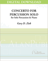 Concerto for Percussion Solo (piano reduction) - Gary Ziek [DIGITAL]