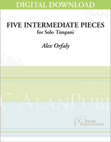 Five Intermediate Pieces for Solo Timpani [DIGITAL]
