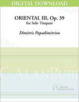 Oriental III, op. 39 [DIGITAL]