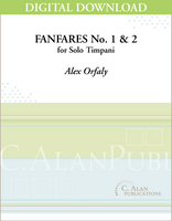 Fanfares No. 1 & No. 2 for Solo Timpani [DIGITAL]