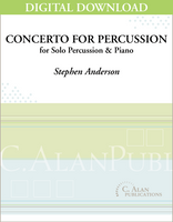 Concerto for Percussion (piano reduction) [DIGITAL]