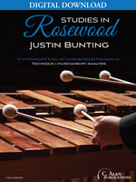 Studies in Rosewood: 10 Intermediate 4-Mallet Marimba Solos [DIGITAL]