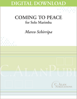 Coming to Peace (Solo 5-oct Marimba) [DIGITAL]