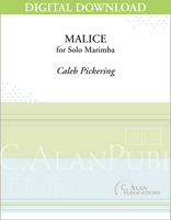 Malice (Solo Marimba) [DIGITAL]