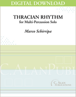 Thracian Rhythm (Solo Multi-Percussion) [DIGITAL]