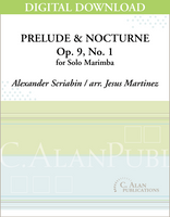 Prelude & Nocturne, Op. 9, No. 1 (Scriabin) [DIGITAL]