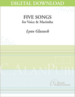 Five Songs for Voice and Marimba [DIGITAL]