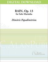 Rain, Op. 13 (Solo 4-Mallet Marimba) [DIGITAL]