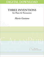 Three Inventions for Flute & Percussion [DIGITAL]