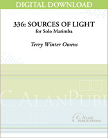 336: Sources of Light (Solo 4-Mallet Marimba) [DIGITAL]