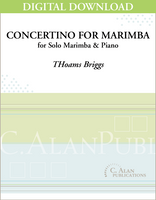 Concertino for Marimba and Wind Ensemble (piano reduction) [DIGITAL]