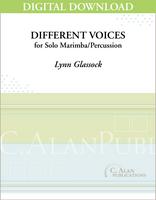 Different Voices (Solo Marimba/Percussion) [DIGITAL]