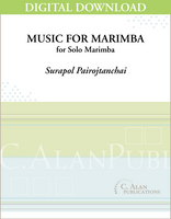 Music for Marimba (Solo 4-Mallet Marimba) [DIGITAL]