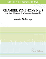 Chamber Symphony No. 3 for Clarinet [DIGITAL]