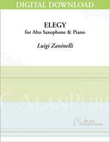 Elegy for Alto Saxophone & Piano [DIGITAL]