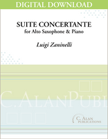 Suite Concertante for Alto Saxophone & Piano [DIGITAL]