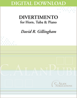 Divertimento for Horn, Tuba & Piano [DIGITAL]