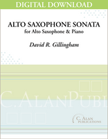 Alto Saxophone Sonata [DIGITAL]