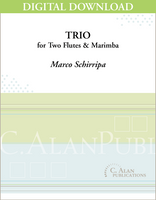 Trio for Two Flutes & Marimba [DIGITAL]