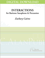Interactions for Baritone Saxophone & Percussion [DIGITAL]