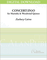 Concert(in)o for Marimba & Wind Quintet [DIGITAL]