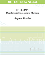 It Flows (Duet for Alto Saxophone & Marimba) [DIGITAL]