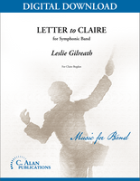 Letter to Claire [DIGITAL SCORE ONLY]