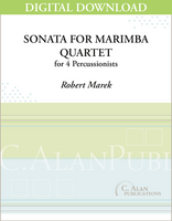 Sonata For Marimba Quartet - Robert Marek [DIGITAL]