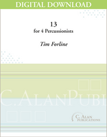 13 (Percussion Quartet) - Tim Forline [DIGITAL SCORE]
