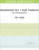 Rhapsody No. 1 for Timpani - Alex Orfaly [DIGITAL]