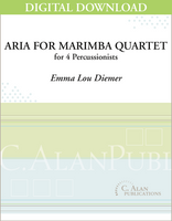 Aria for Marimba Quartet - Emma Lou Diemer [DIGITAL SCORE]