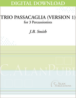 Trio Passacaglia (Version 1) - J.B. Smith [DIGITAL SCORE]