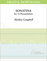 Sonatina for Percussion Ensemble - Mathew Campbell [DIGITAL SCORE]