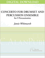 Concerto for Drumset and Percussion Ensemble - Jamie Whitmarsh [DIGITAL]