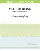 Mercury Rising (Perc Ens 4) - Nathan Daughtrey [DIGITAL SCORE]