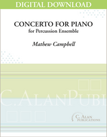Concerto for Piano & Percussion Ensemble - Mathew Campbell [DIGITAL SCORE]
