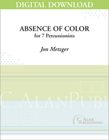 Absence of Color - Jon Metzger [DIGITAL]