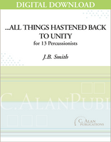 ...all things hastened back to Unity - J.B. Smith [DIGITAL]