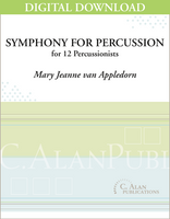 Symphony for Percussion - Mary Jeanne van Appledorn [DIGITAL SCORE]