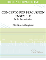 Concerto for Percussion Ensemble - David Gillingham [DIGITAL SCORE]