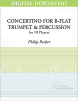 Concertino for B-flat Trumpet & Percussion Orchestra - Philip Parker [DIGITAL]