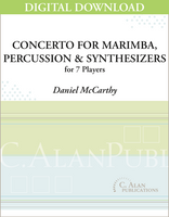 Concerto for Marimba, Percussion & Synthesizers - Daniel McCarthy [DIGITAL SCORE]