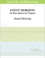 Event Horizon (Brass Quintet & Timpani) - Daniel McCarthy [DIGITAL]