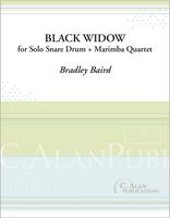 Black Widow (Solo Snare Drum + Marimba Quartet)