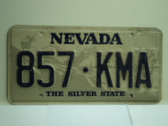 NEVADA Silver State License Plate 857 KMA