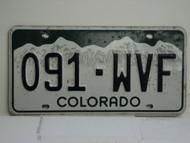COLORADO License Plate 091 WVF